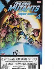 New Mutants Dead Souls #1 signed Matthew Rosenberg MIDTOWN COMICS COA NM