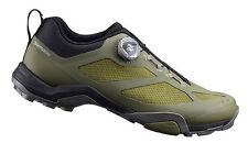 Shimano MT7 Mountain Touring Boa MTB Bike Cycling Shoes Olive - 43 (US 9.0)