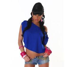 Top Donna Blusa Velata Tunica Corta Viscosa T-Shirt Maglia Sexy Feste Party Moda
