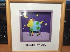 "GANZ Bright Star Designs 3-D Shadowbox Art ""Bundle Of Joy"" Pre-owned"