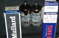 2 NOS NIB TUBES MULLARD ECC81 / 12AX7 TUNGSOL 12AX7 ECC83 VINTAGE [] GETTER FOIL
