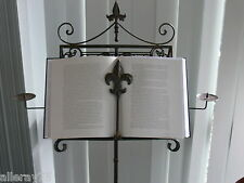 French antique double LECTERN music book recipe menu stand wrought iron NEW