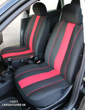 AIXAM 400 & 500 Pair of Front SPEEDSTER Red/Black Car Seat Covers