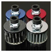 13mm Oil Mini Breather Cold Air Filter Fuel Crankcase Engine for Car Color:Silve