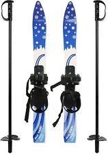 Luckyermore Kids Skis Poles Bindings Beginner Snow Fun Sports Winter Ski New