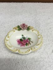 Vintage Kandarbek Floral Design Small Dish/bowl With Applied Flowers