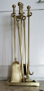 VA Metalcrafters Solid Brass Fireplace Tools  - Used Once