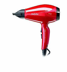 BaByliss 6615E Pro Intense Dryer Of Hair Motor Professional Fast Dry Red