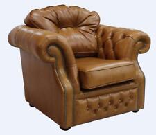 Handmade Chesterfield Era 1 places Old English Saddle Tan en cuir fauteuil canapé