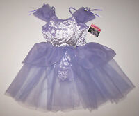 Nwt New Capezio Leotard Dress Tutu Skirt Lilac Velvet Sheer Flower Wow Cute Girl