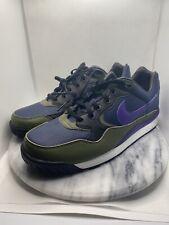 Nike Air Wildwood ACG Shoes Midnight Navy Purple Olive AO3116-400 Retro Size 9.5