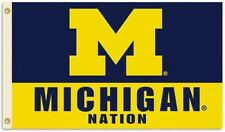 Michigan Wolverines Nation 3' x 5' Flag/Banner-Us Seller-Free Shipping