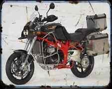 Bakker Grizzly All Road A4 Metal Sign Motorbike Vintage Aged