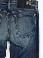 Women's 7 For All Man Kind 27 x 34 Flare leg Stretch jeans
