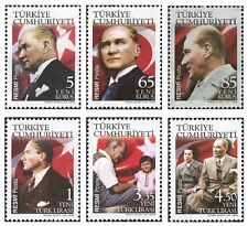 TURKEY 2008, ATATURK THEMED OFFICIAL POSTAL STAMPS -1, FLAG, MNH