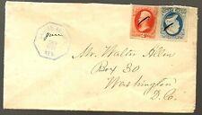 1881 Santee (Indian) Agency Cancel Cover to Washington DC Rare