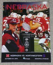 2015 Nebraska Cornhuskers vs. Northwestern Wildcats Football Program - 10-24-15