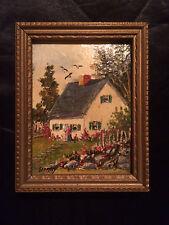 Vintage Miniature Oil painting.