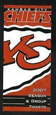 2007 Kansas City Chiefs Ticket Brochure