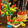 Cactus Equilibrium Game Balancing Cactus Wooden Toy Detachable Building Blocks