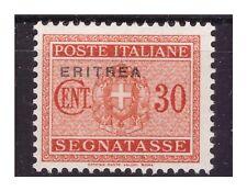 ERITREA  1934 -  SEGNATASSE  CENT. 30  VARIETA'  NUOVO **