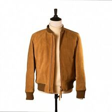 DOCUMENT Cow Suede Leather Bomber Jacket sz L