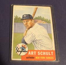 1953 TOPPS BASEBALL CARD #167 ART SCHULT