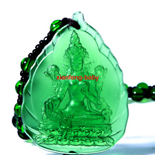 Buddha Pendant  Green Tara Statue Necklace Amulet Blessed Glass Buy 2 Get 1