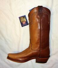 Tony Lama 6980 Sz 8D Rowdy Bison Mens Western Cowboy Boots 2 Tone PECAN BUFFALO