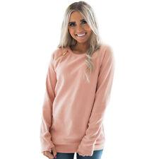 Womens Long Sleeve Hoodies Pullover Sweatshirt Ladies Winter Jumper Tops Blouses