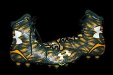 Under Armour Green Yellow Lacrosse Football Clutchfit Spine Cleats Mns 10.5 NEW