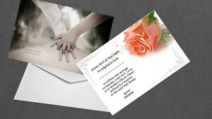 Vintage Double Side Personalised Wedding Invitations Day & Evening