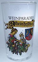 Vintage Weinparadies ~ Rheinheffen ~ Souvenir 4 OZ Shot Glass Large Size