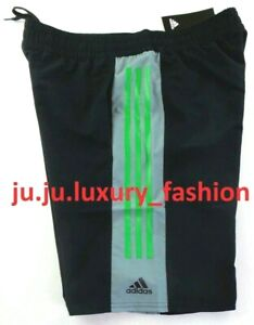 Adidas Men's Swim Shorts Trunks Large Black Green Volley Epic Mesh Brief New Tag