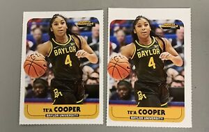 Te'a Cooper Rookie Baylor Bears / LA Sparks 2020 SI For Kids RC Lot X2