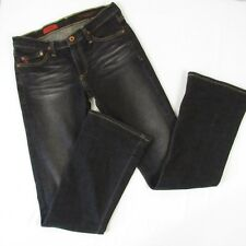 AG Adriano Goldschmied The Angel Black Jeans Size 28 R Mid Rise Boot Cut Flare