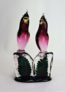 Murano Glass Salviati Birds Sculpture
