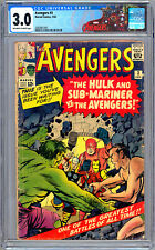 AVENGERS #3 CGC 3.0 *FIRST SUB-MARINER & HULK TEAM-UP* STAN LEE JACK KIRBY 1964