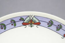 Mavaleix Limoges Hand Painted Art Deco Red Green Purple Butterfly & Floral Plate