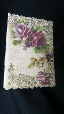 Vintage Victorian Love Booklet Valentine Card late 1800s Very romantic!