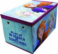 Disney Frozen II Anna Elsa Jumbo Toy Storage Box Childrens Tidy Room Chest 3002