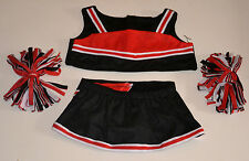 """Teddy Bear Black & Red Cheerleader Clothes Fit 14""""-18"""" Build-a-bear, ! New !"""