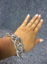 Beautiful Italy sterling Silver 925 modernist Links  bracelet