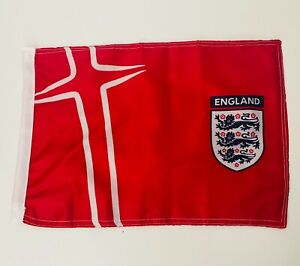 England Football FA Quality Small Fabric Flag 11x15 inch 30x40cm Double Sided