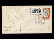 Opc 1960 Luxenbourg World Refugee Year Fdc Unaddressed