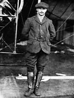 OLD LARGE PHOTO Flight history, French Aviation Pioneer Henri Salmet c1910 4