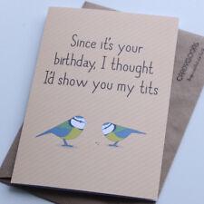 Funny Birthday Card, Boyfriend, Husband, Rude, Humour Card