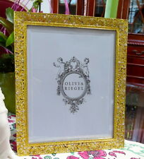 "Olivia Riegel Gold Windsor Crystal 8"" x 10"" Photo Frame  NEW! In Box!"