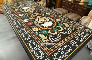 Marble Garden Table Top with Handmade Crafts Dining Table for Home 36 x 84 Inch