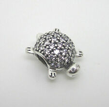 d07648a2c #14 New Authentic Pandora Sea Turtle Charm W/ Pouch & Polishing Cloth  #791538CZ